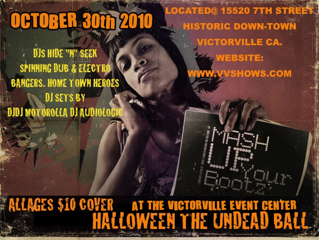 Undead Ball, Sat Oct. 30th dance party for all ages at Victorville Events Center.