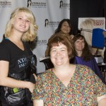First-time attendee Catherine, with hairstylist Jenn of Athena Jean Salon and Day Spa