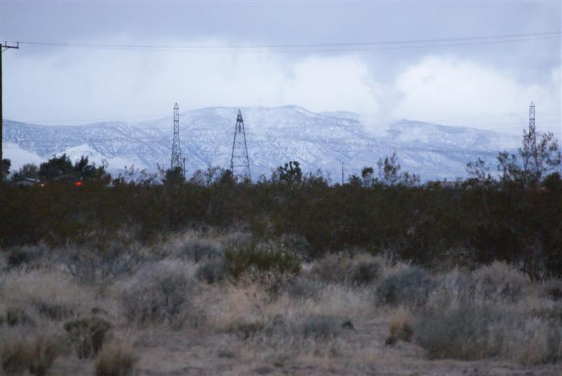 Low Snow Levels And Icy Conditions As A Cold Storm Impacts The Victor Valley