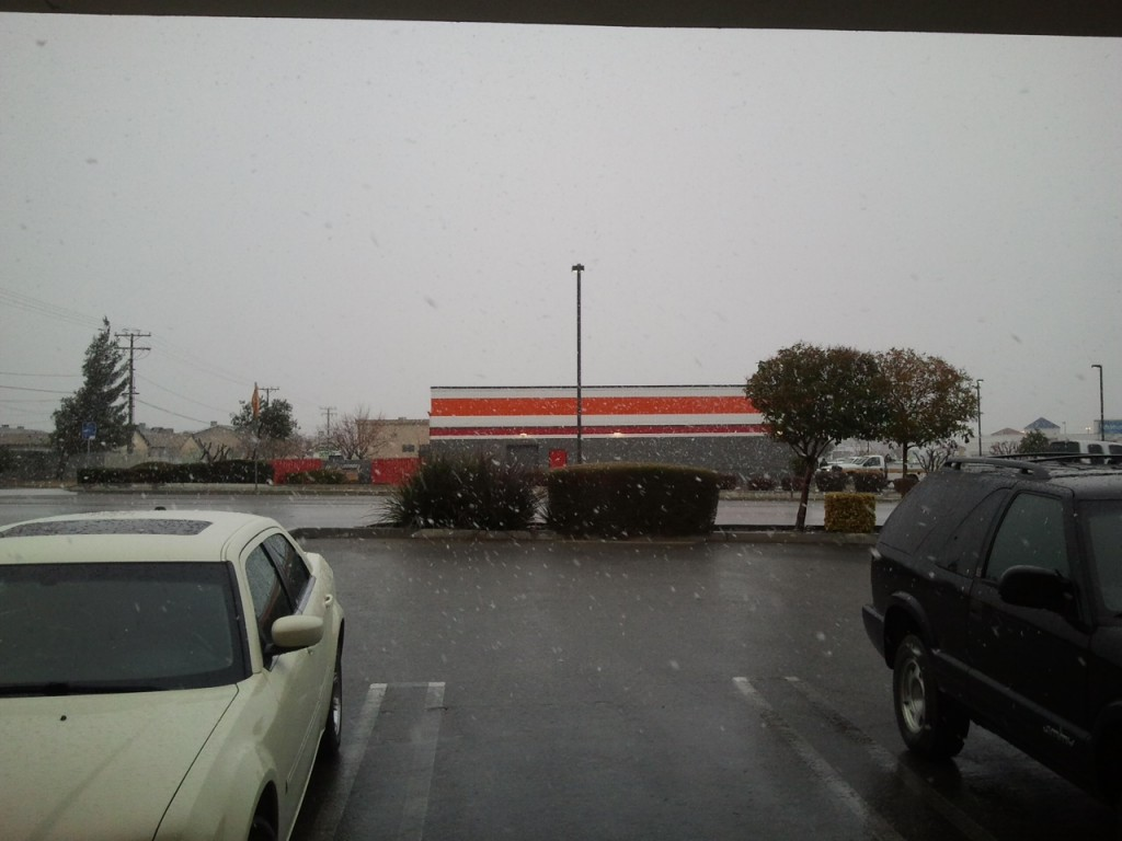 Winter Storm Brings Rain And Snow To The Victor Valley