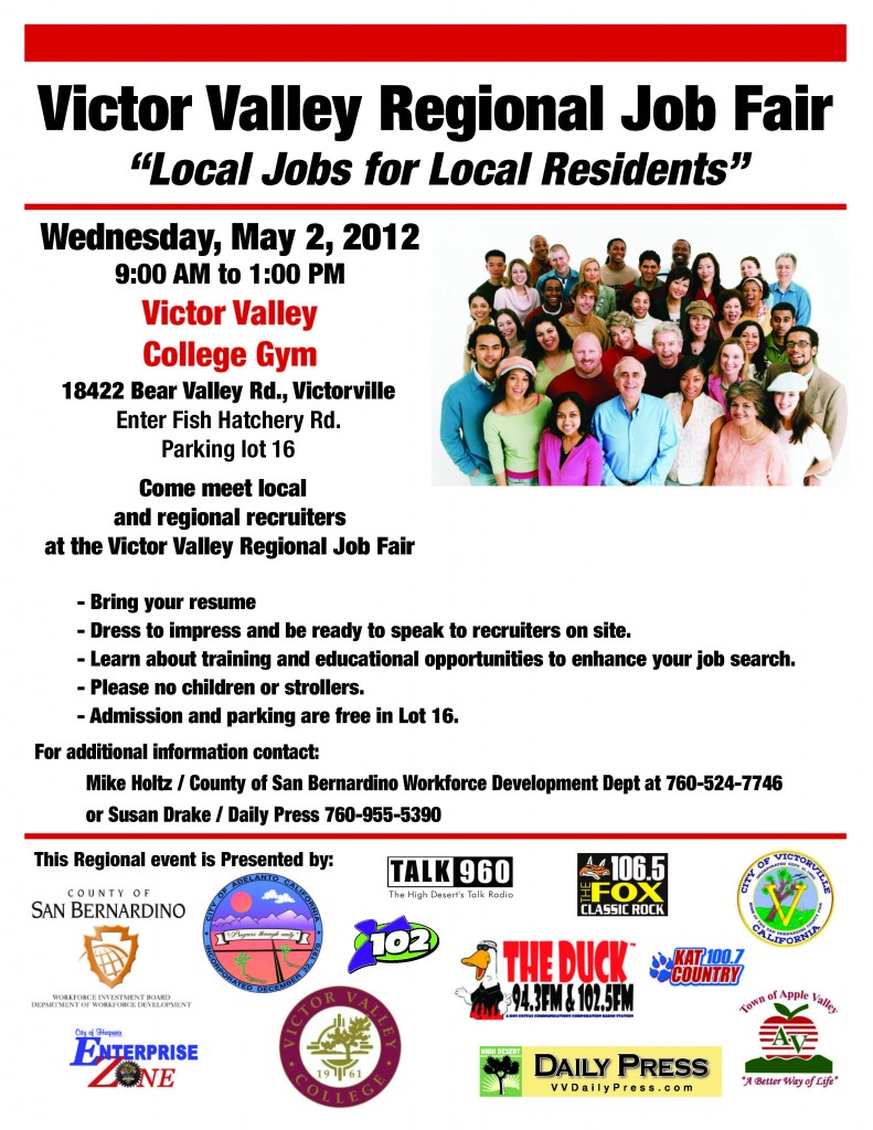Job Fair This Wednesday In Victorville