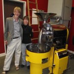 John and DeDe Tonyan with their coffee roaster. Pictures By Nola Patrick Smith