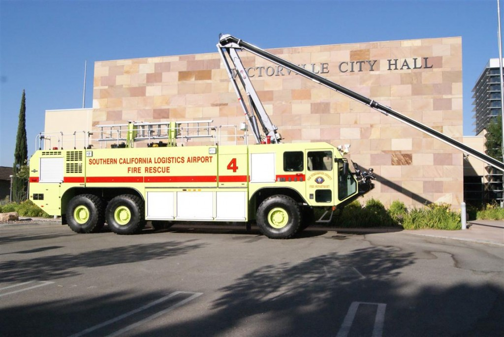 City Council Meets New Striker 3000 Firefighting Vehicle At City Hall