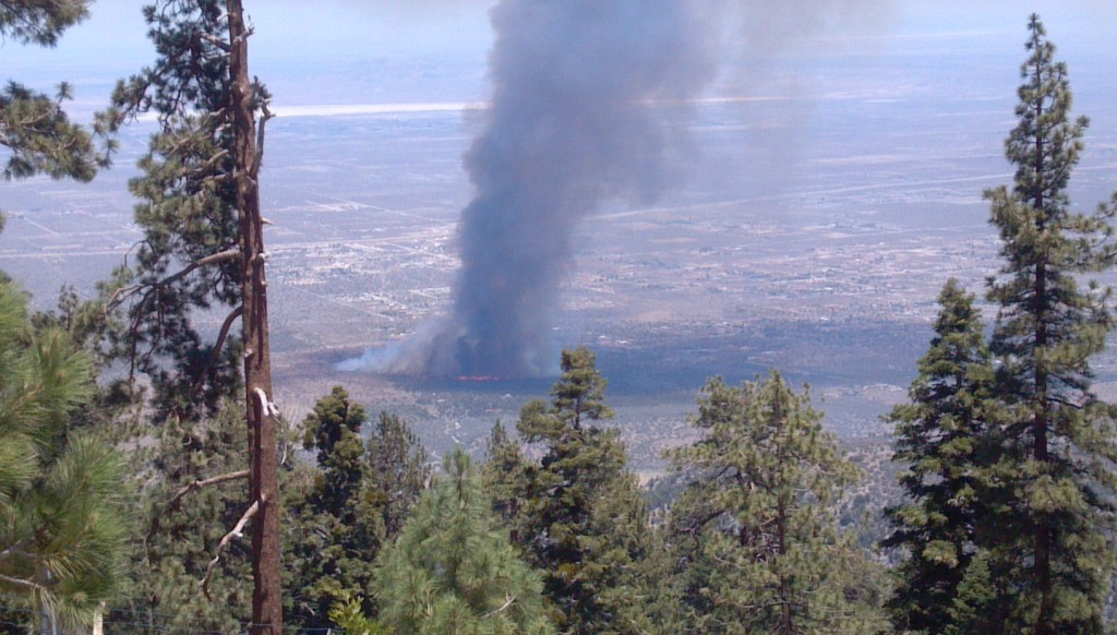 Breaking News:Brush Fire Threatens Homes near Pinon Hills