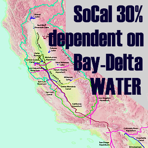 Graphic: Southern California is 30% dependent on water supply from the Bay-Delta