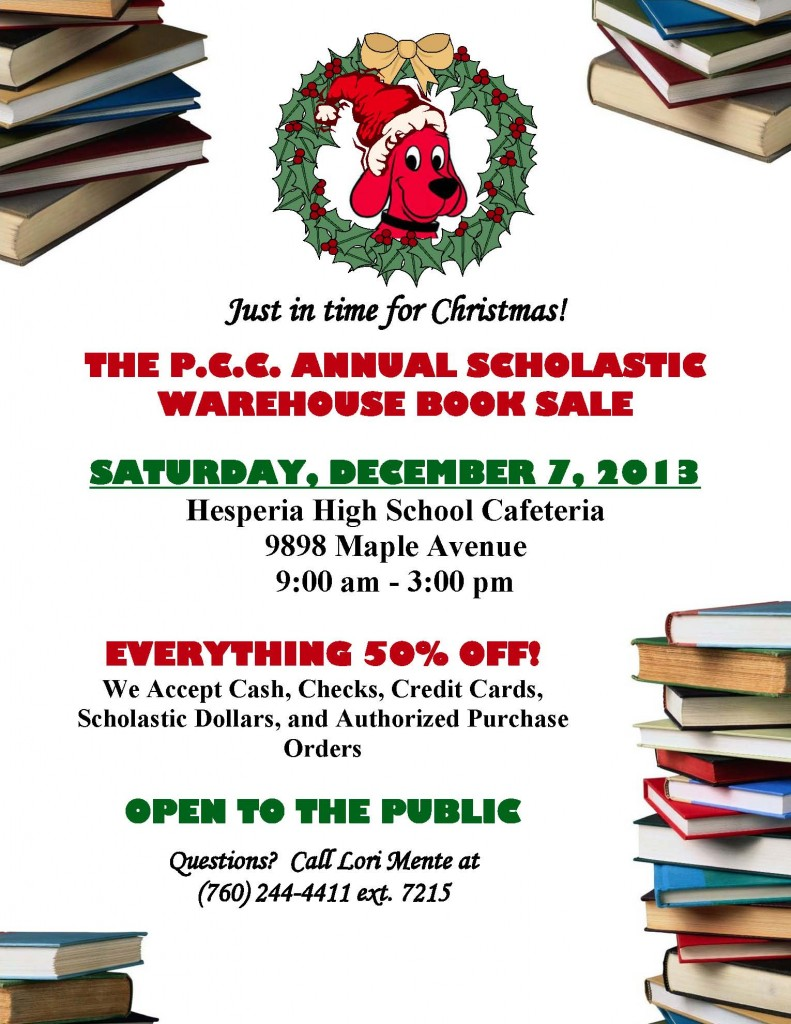 Ad for Book Sale 2013
