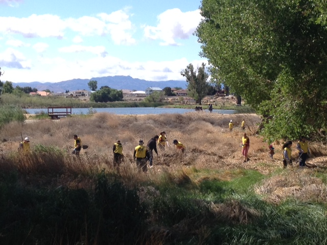 Hundreds of volunteers donated more than $65,000 in labor and services at area schools and parks during the High Desert Helping Hands Day of Community Service on Saturday, April 26.