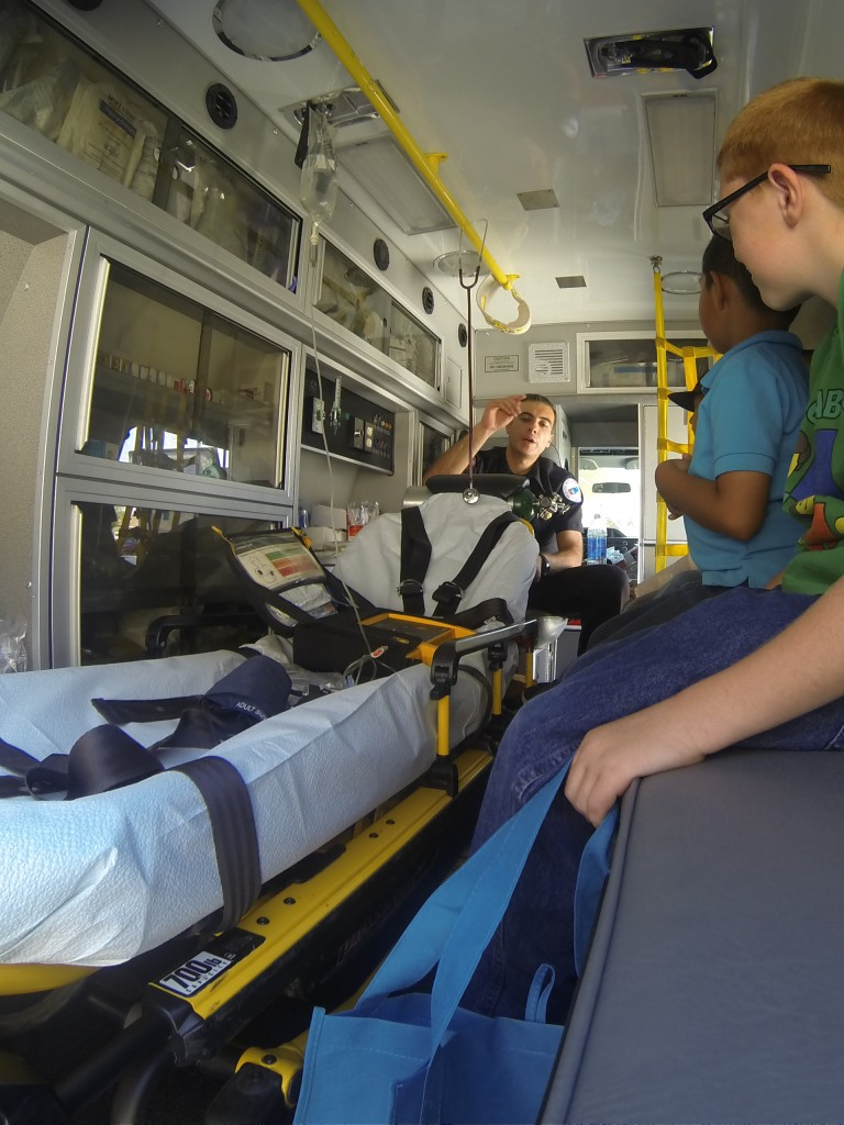 American Medical Response sharing with students about a career opportunities as an EMT or paramedic.