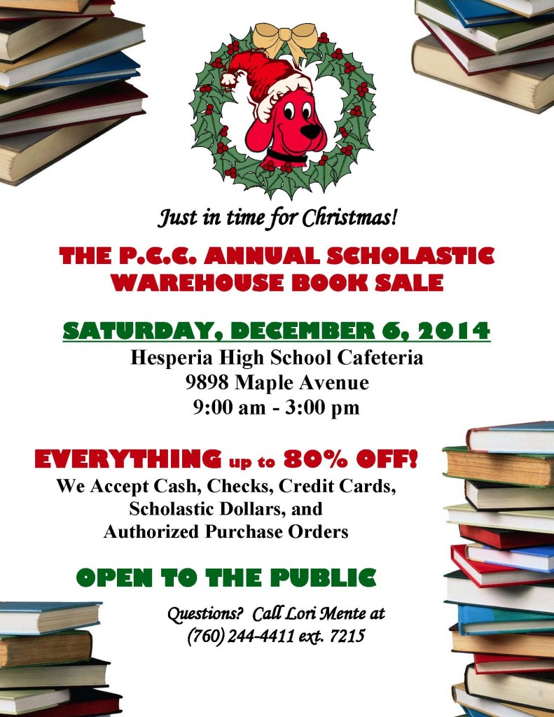 Poster for Book Sale 2014