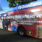 Omnitrans will now provide discount fares to military veterans with valid ID & free rides to uniformed active-duty military, police, & firefighters.
