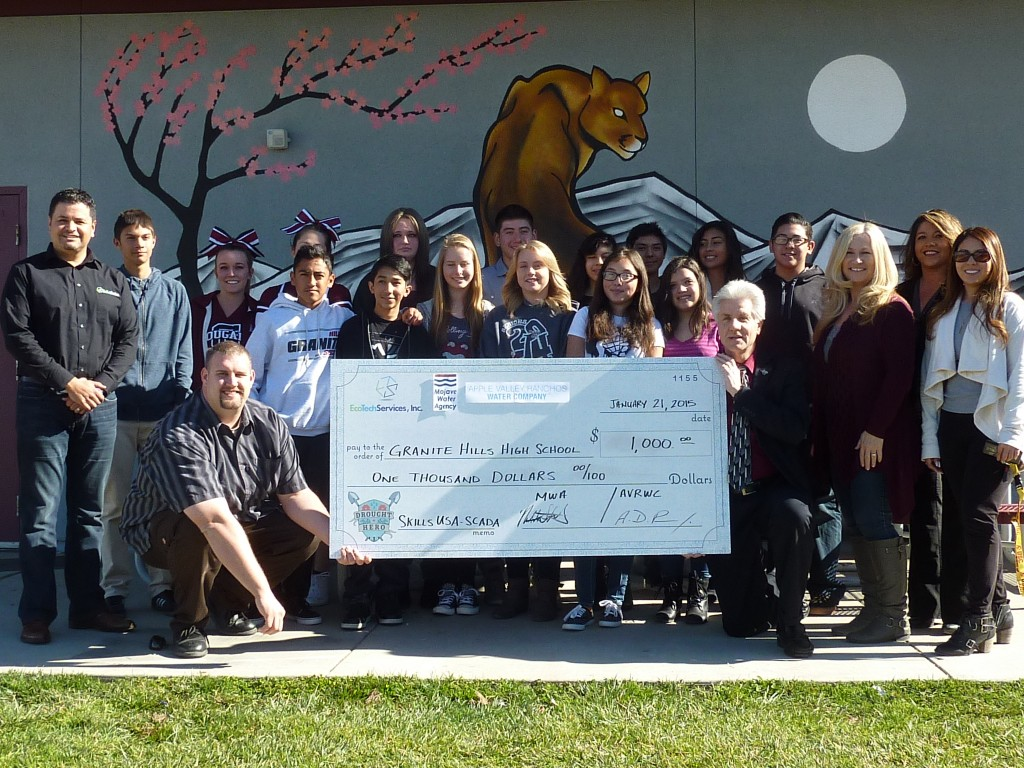 Check Presentation at Granite Hills High School.