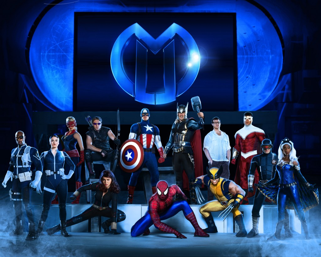 The heroic cast of Marvel Universe LIVE! assembles to take on the most sinister villains in an epic battle to save the world.  Photo courtesy of Feld Entertainment.