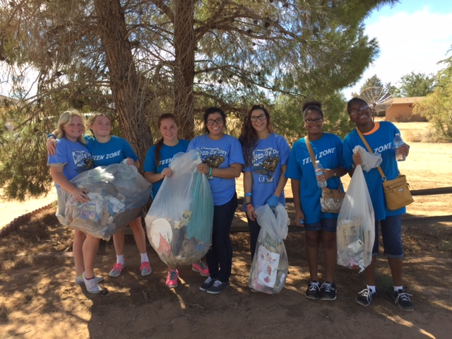 Teen Zone volunteers gather to clean up trash and debris to keep Apple Valley beautiful.