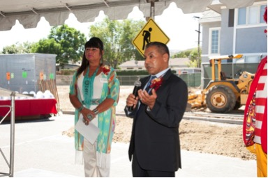 San Manuel Band of Mission Indians Tribal Secretary Ken Ramirez, along with Tribal Chairwoman Lynn Valbuena spoke to more than 100 people about their commitment to the House and community. The Tribe provided a lead gift of $5.6 million.