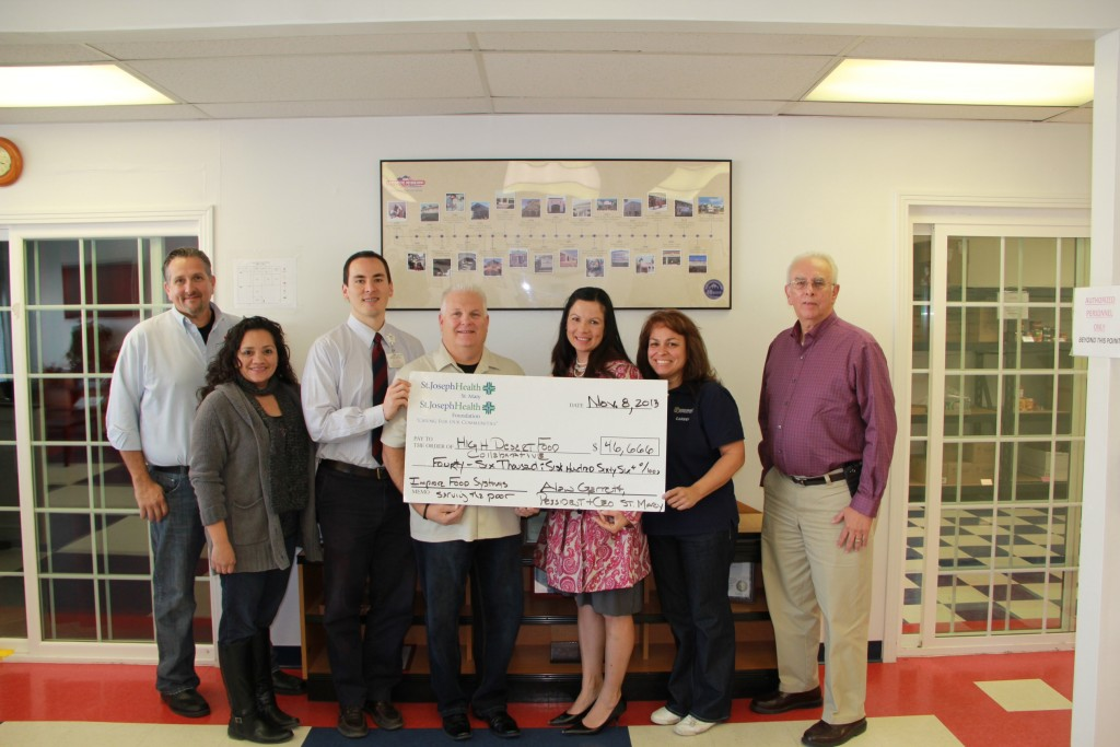 Thanks to fundraisers, many positive things like this check donation are made possible in our community.