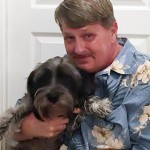 "Steve ""Stevarino"" Elliott, KQTE 1450 AM Morning Personality and his 4-year-old Schnauzer Mix named Grandpa."