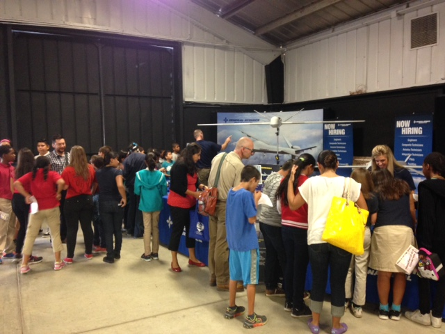 Students from around the High Desert learned about careers with local manufacturing companies including General Atomics, manufacturer of unmanned aerial vehicles used around the world.