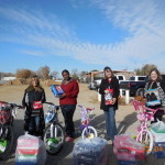 Photo taken at Yermo School.  Employees of AVR donated funds to purchase bikes and the school selected the children.