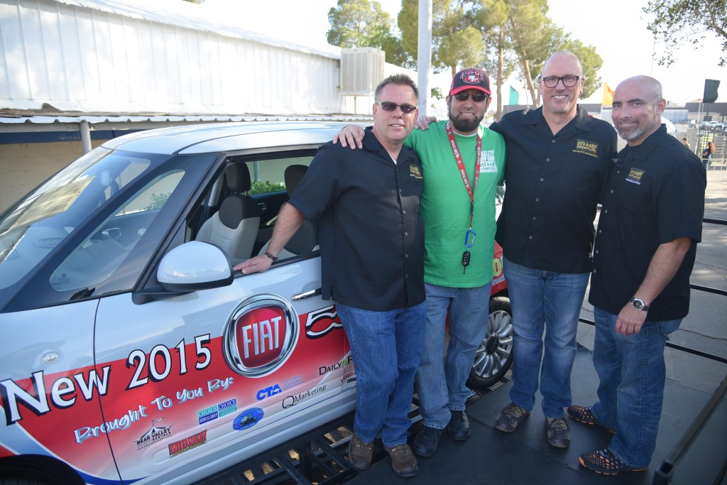 Victorville Motors – Distinguished Service to Education (Left to Right) – 1. Billy Mac, 3. Tim Watts, - VV Motors 4. Kevin Smilen – Desert Fiat