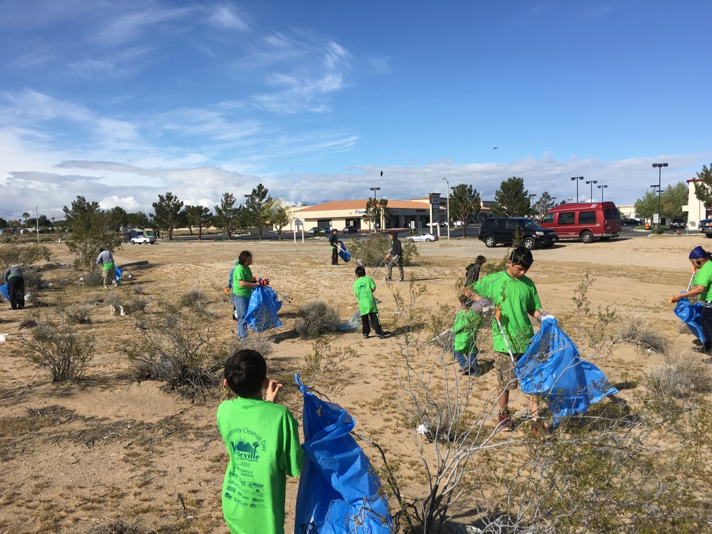 Church of Christ team picked up 45 bags at Roy Rogers and Amargosa
