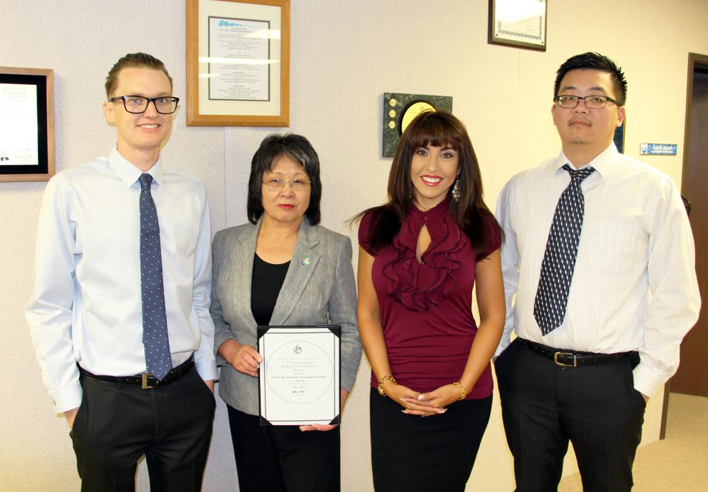 From Left to Right: Accounting Technician Kyle Parker, Accounting Supervisor Chieko Keagy, Director of Finance Angela Valles, Accountant Xiwei Wang.