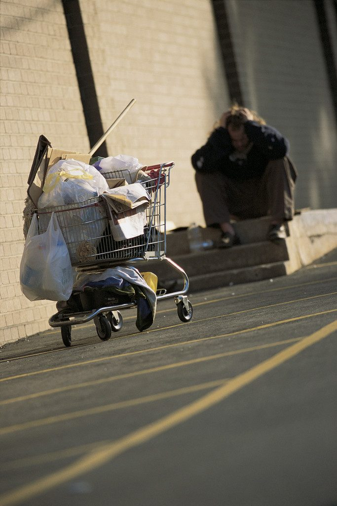 Homeless Person --- Image by © Royalty-Free/Corbis