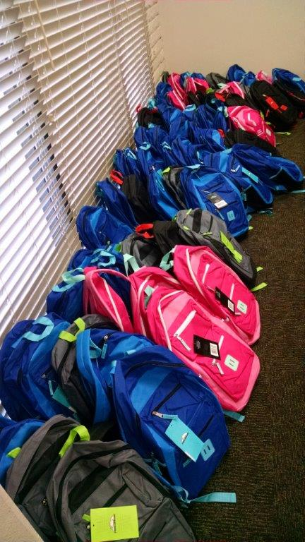 Backpacks purchased by High Desert Association of Realtors and affiliates; filled with school supplies and donated to the Assistance League®
