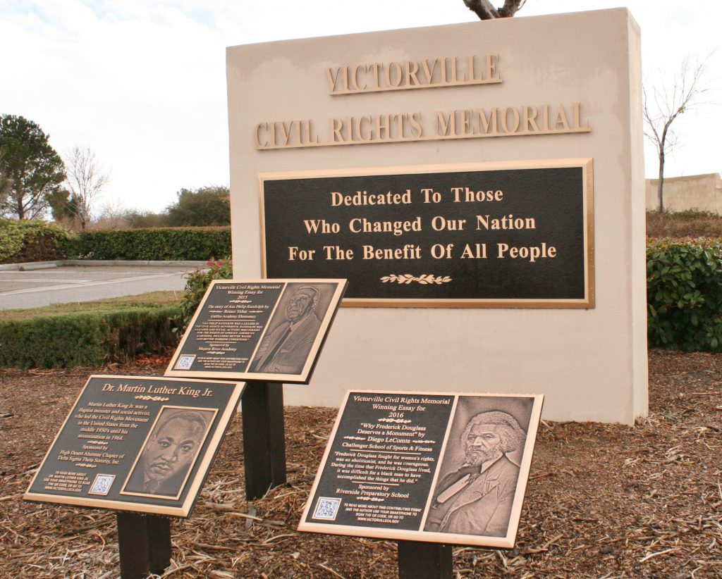 Civil Rights Memorial on a rainy High Desert day