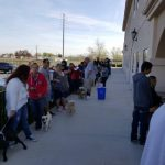 Adelanto residents line-up with their pets at License & Vaccination Clinic at City Hall 3-18