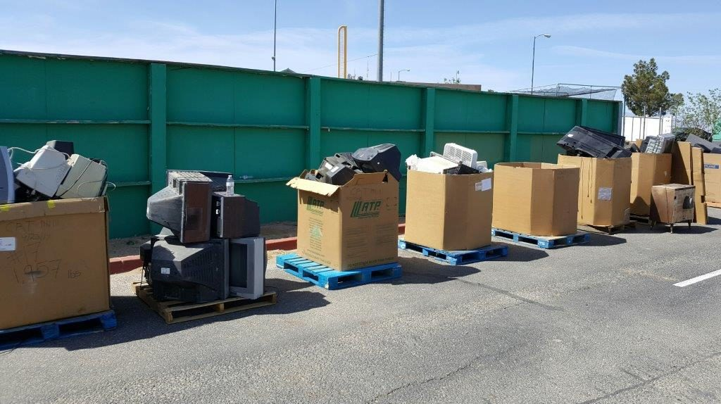 A sample of some the electronics collected at Adelanto's Free Dump Day event.