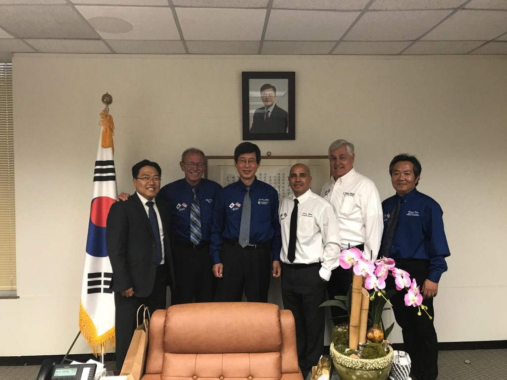 Peter Park, AirCore Cook Ware President; Adelanto Mayor Richard Kerr; Lee Key Cheol, Consul General of the Republic of South Korea, Jessie Flories, Adelanto Municipal Economic Development Services; Michael Milhiser, Adelanto City Manager and Hanso Kim, High Desert Korean Chamber of Commerce President.
